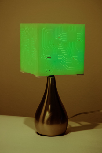 """Power My Circuit"" Lamp Shade By Mazuir Ross (Assembly Required) 3D Print 28017"