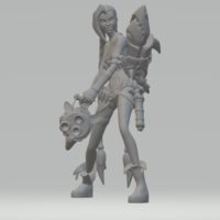Small jinx lol league of legends high poly 3D Printing 280174
