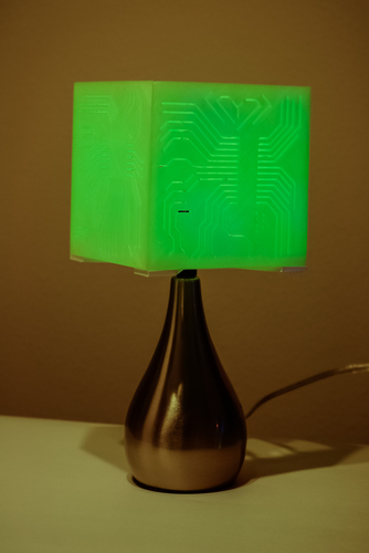 """Power My Circuit"" Lamp Shade By Mazuir Ross (Assembly Required) 3D Print 28018"
