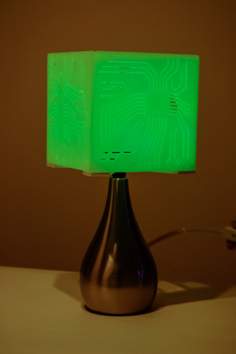 """Power My Circuit"" Lamp Shade By Mazuir Ross (Assembly Required) 3D Print 28019"