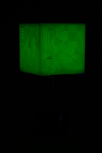 """Power My Circuit"" Lamp Shade By Mazuir Ross (Assembly Required) 3D Print 28020"