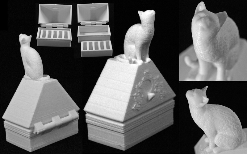 Cat on a Ring Box 3D Print 28053