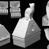 Small Cat on a Ring Box 3D Printing 28053