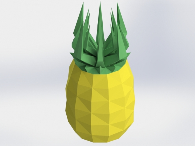 Low Poly PineApple Planter/Jar 3D Print 28083