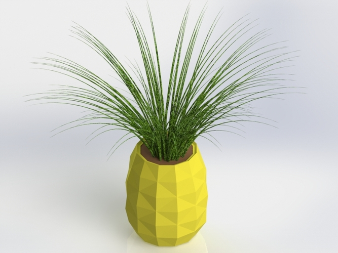 Low Poly PineApple Planter/Jar 3D Print 28085