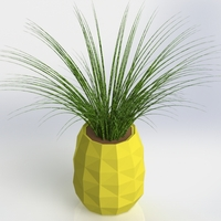Small Low Poly PineApple Planter/Jar 3D Printing 28085