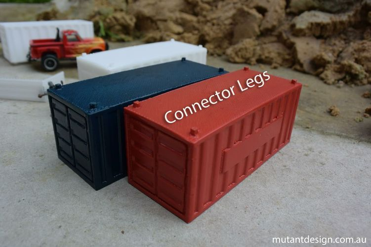 Shipping Containers - Modular Storage 3D Print 28101