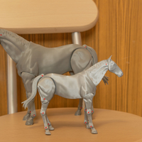 Small 1:18 + 1:12  Scale  Articulated Horse Figure. 3D Printing 281194
