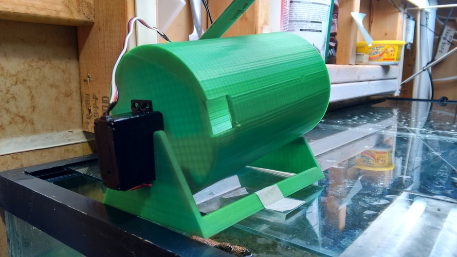Automatic Turtle/Fish Feeder Version 4 3D Print 28121