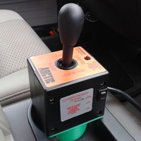 Small Snow Plow Joystick Cupholder Mount 3D Printing 28129