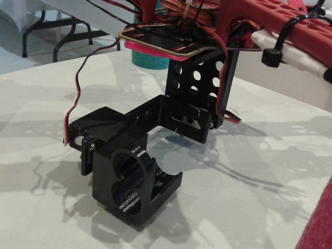DJI F450 2-Axis Gimbal for Sony Action Cam 3D Print 28135