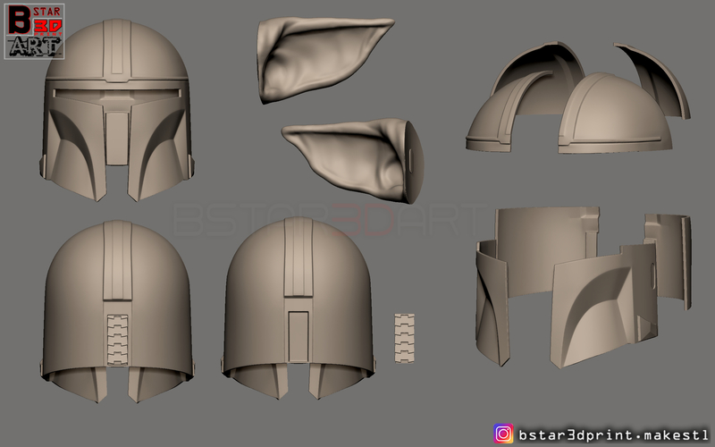 3d Printed Yoda Mandalorian Helmet Star Wars Mandalorian By Bstar3dprint Pinshape