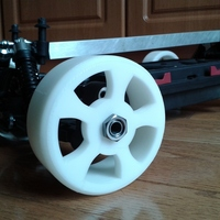 Small 1/8th Scale RC Drift Tire - TT MT4 G3 3D Printing 28143