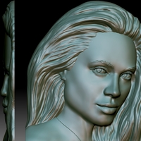 Small Portrait relief STL file for CNC router based on your photo 3D Printing 281986