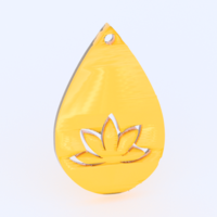 Small Yoga earrings 3D Printing 282358