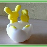 Small  Tulip shaped egg-shell with Easter attributes 3D Printing 28243