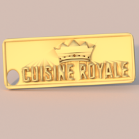 Small Cuisine Royale keychain 3D Printing 282570