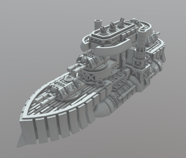 Medium Nova Scotia Class Battleship 3D Printing 282575