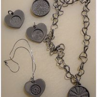 Small Mandala and Labyrinth pendants 3D Printing 28267