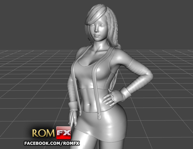 Tifa Lockhart - Final Fantasy - Figure Printable 3D Print 282783