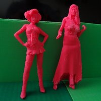 Small Sculptures of Barbie and Cinderella 3D Printing 28294