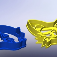 Small Sonic and fox-Cookie cutters-60 (Free) 3D Printing 282942
