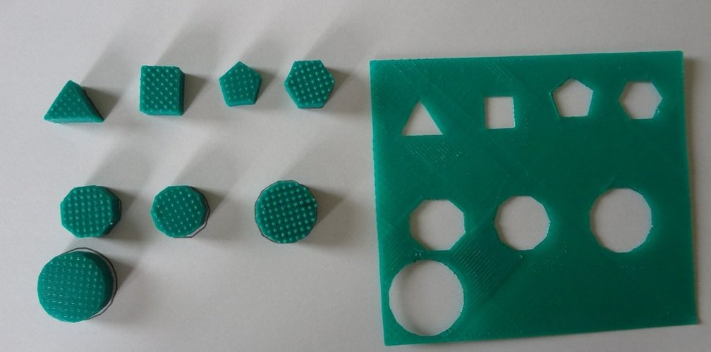 Hexagon building blocks 3D Print 28297