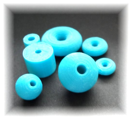 Bead collection in different sizes and shapes 3D Print 28326
