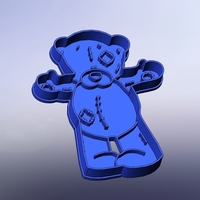 Small Teddy bear shirt- 100 (Free) 3D Printing 283264