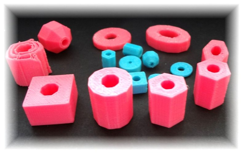 Bead collection in different sizes and shapes 3D Print 28327