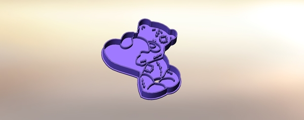 Medium Teddy bear with a heart-100 (Free) 3D Printing 283304