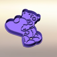 Small Teddy bear with a heart-100 (Free) 3D Printing 283304