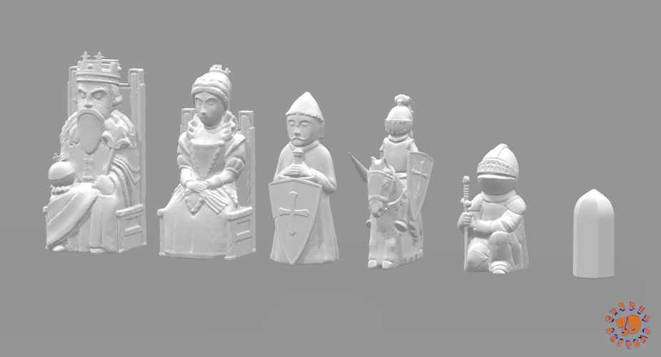 Medieval Times Themed Chess Set 3D Print 283379