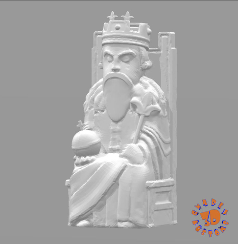Medieval Times Themed Chess Set 3D Print 283380