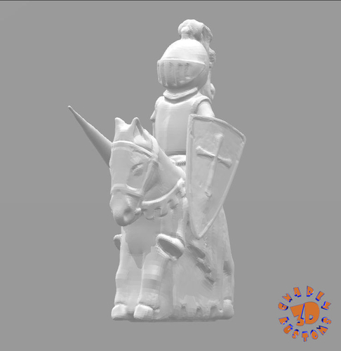 Medieval Times Themed Chess Set 3D Print 283383
