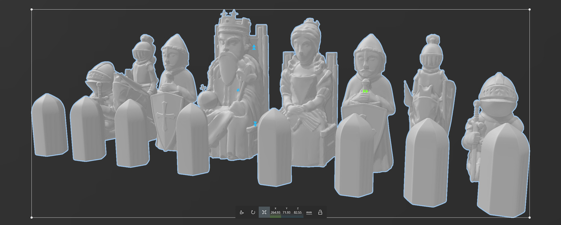 Medieval Times Themed Chess Set 3D Print 283444