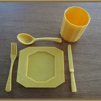 Small cutlery, plate and cup 3D Printing 28351