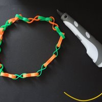 Small lemniscate chains 3D Printing 28359