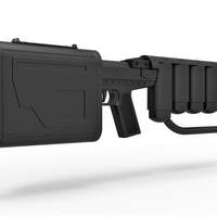 Small EMP rifle from movie Dark Knight rises 3D Printing 283632