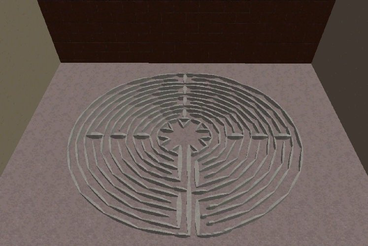 Labyrinth of Chartres 3D Print 28374
