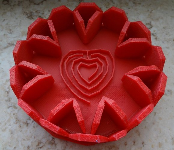 Red heartlaby in tray 3D Print 28376