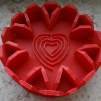 Small Red heartlaby in tray 3D Printing 28376