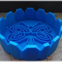 Small Tray design with a labyrinthine heart butterfly within 3D Printing 28378