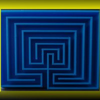 Small Classical square seven path Labyrinth 3D Printing 28382