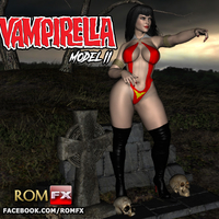 Small Vampirella Model 2 - The Sexiest Blood Sucker 3D Printing 283889