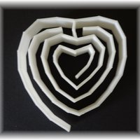 Small heart labyrinth, labyrinthine small (place)mat 3D Printing 28393