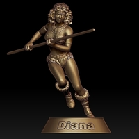 Small Diana from Dungeons&Dragons series 3D Printing 283995