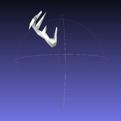 Faceted Deer Head 3D Print 28413