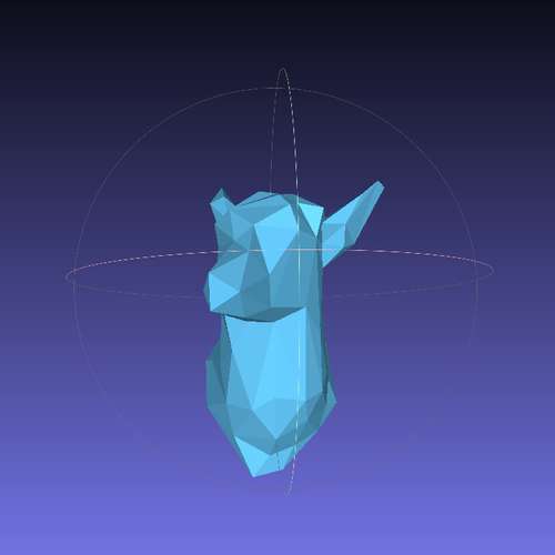 Faceted Deer Head 3D Print 28414