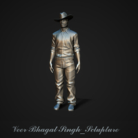 Small Bhagat Singh Sclupture 3D Printing 28444
